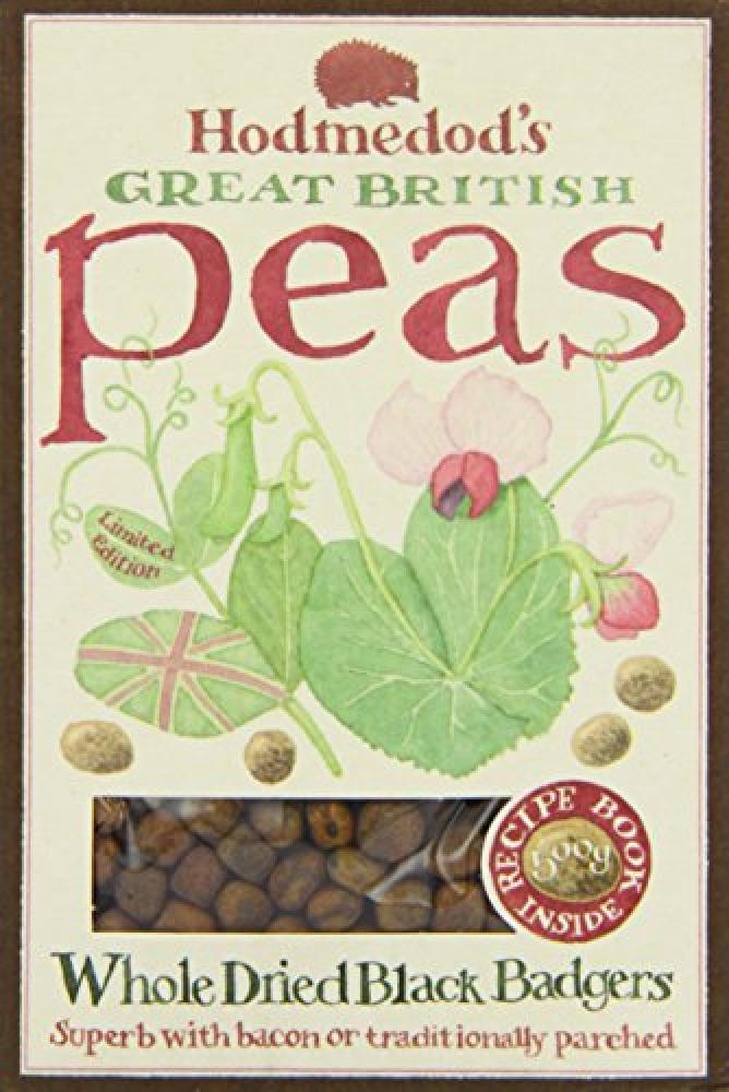 Hodmedods Great British Peas Whole Dried Black Badgers 500 g