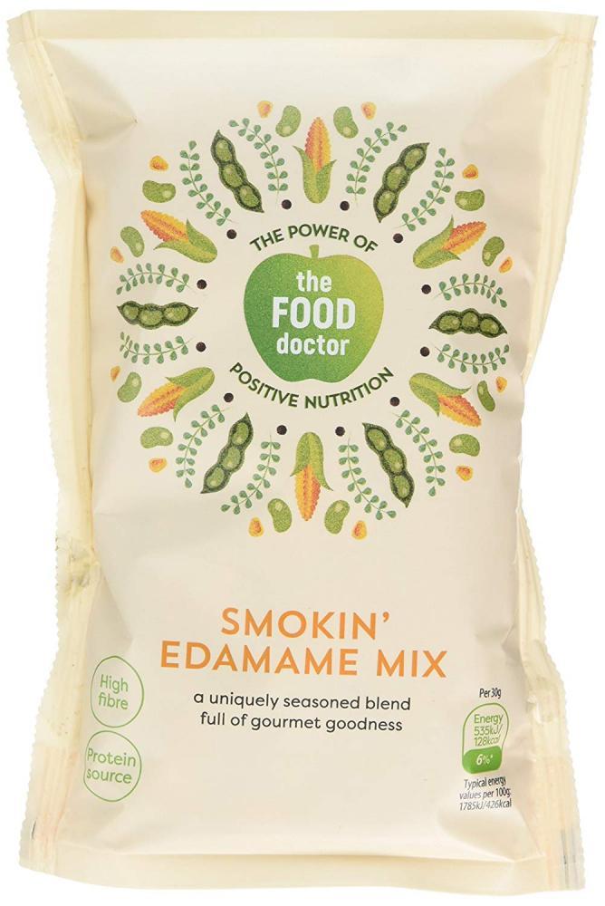 The Food Doctor Smokin Edamame Mix 115g