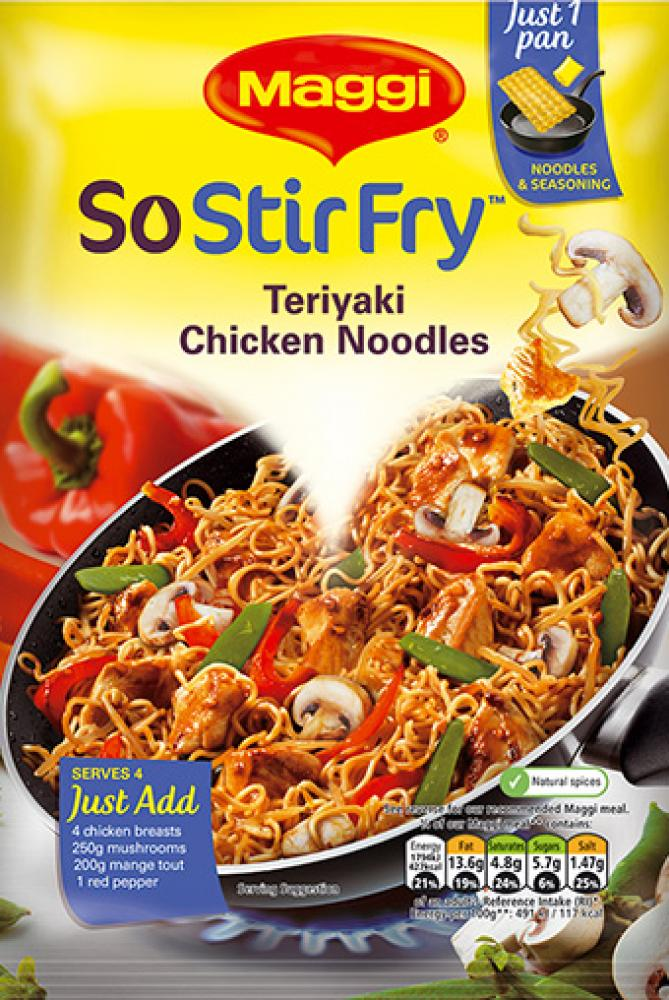 Maggi So Stir Fry Teriyaki Chicken Noodles 181g