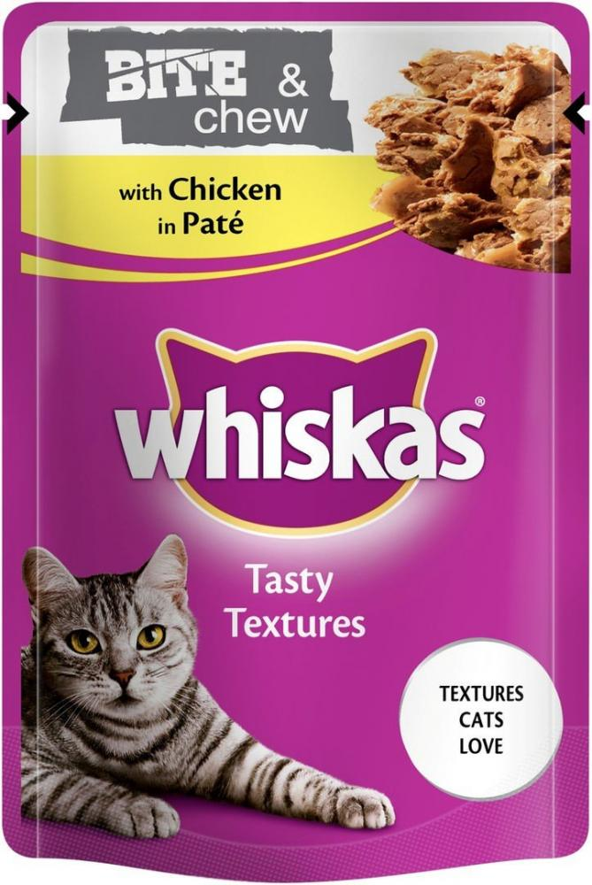 Whiskas Tasty Textures Bite N Chew Chicken 85g
