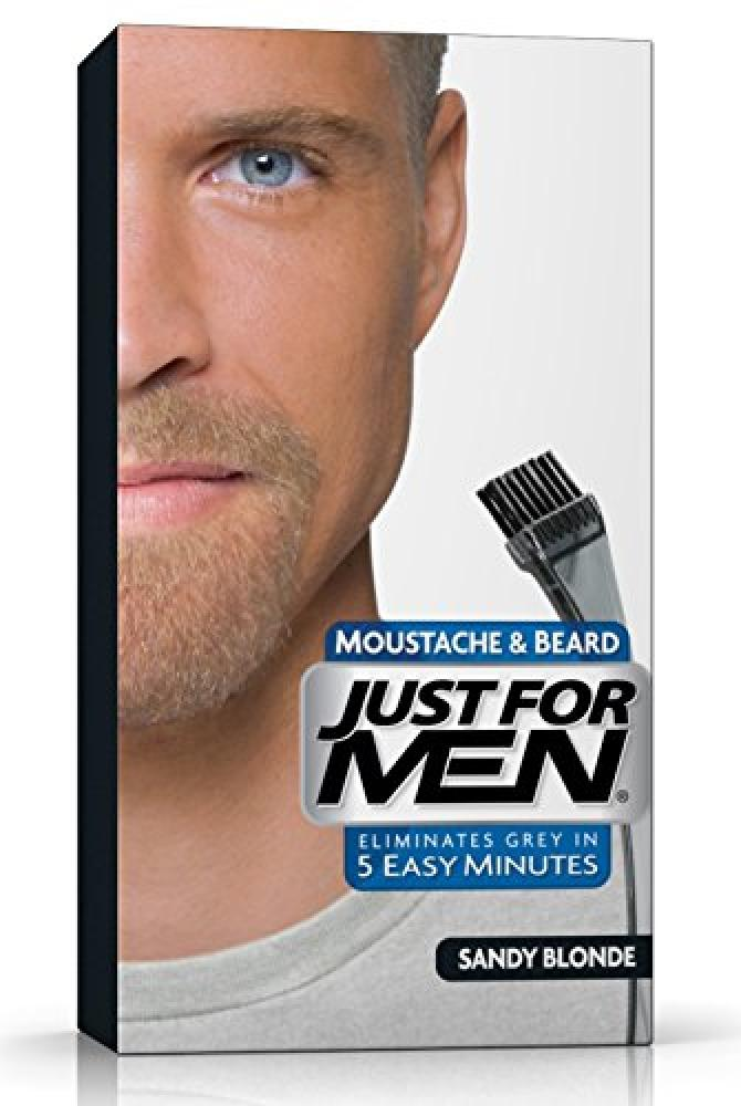 Just For Men M10 Moustache and Beard Facial Hair Color Sandy Blonde