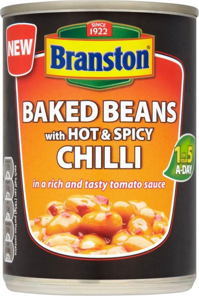 Branston Baked Beans With Hot and Spicy Chilli 390g