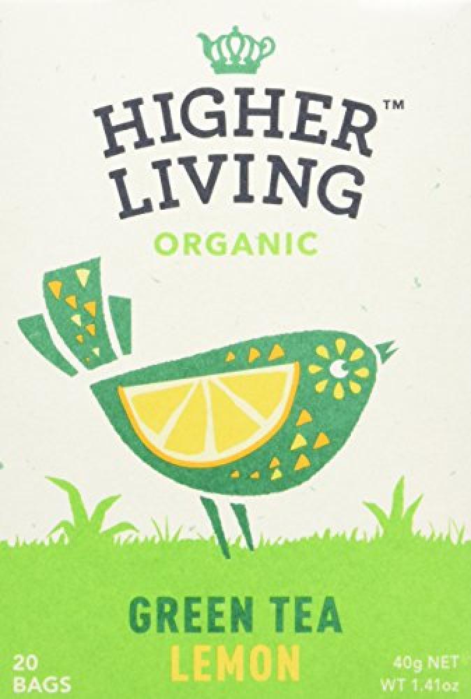 Higher Living Lemon Green Enveloped Tea 20 bags
