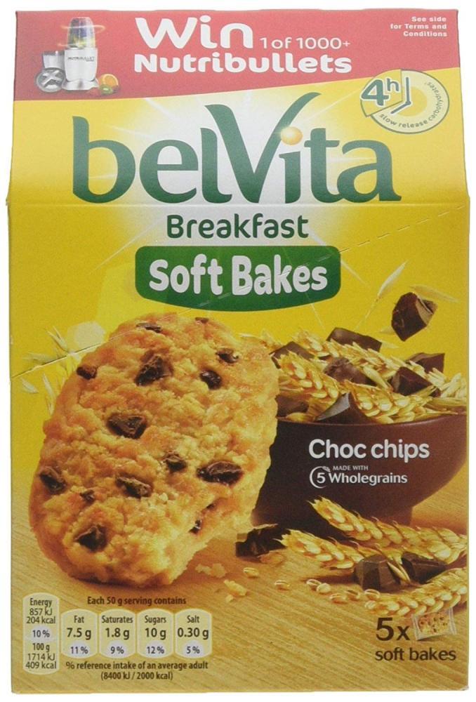 Belvita Breakfast Soft Bakes Choc Chip Biscuits 250g