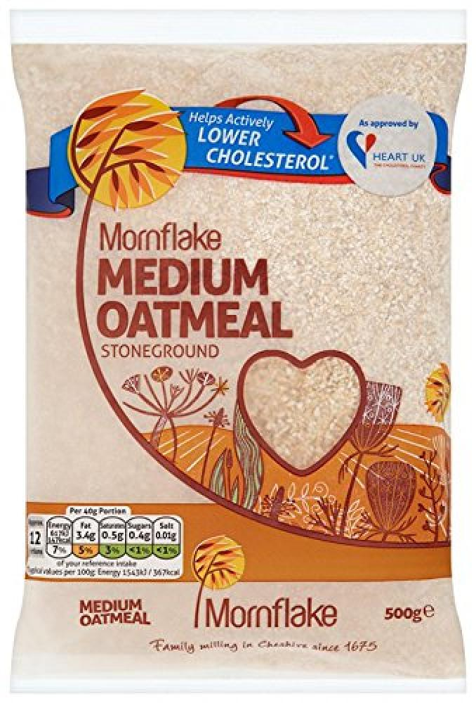 Mornflake Medium Oatmeal Stoneground 500g