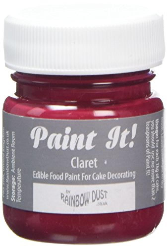 Rainbow Dust Claret Paint It Pot Edible Icing Paint 25 ml