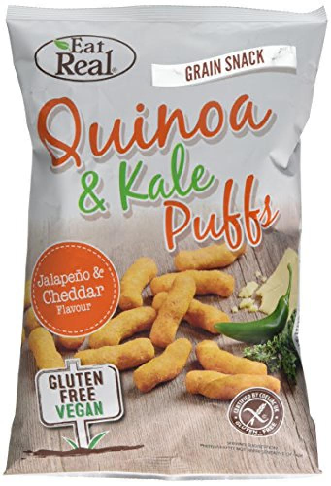 Eat Real Quinoa and Kale Jalapeno and Cheddar Flavour Puffs 113g