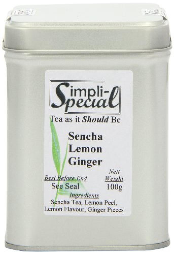 Simpli-Special Lemon Ginger Sencha Green Loose Leaf Tea in Gift Caddy 100 g