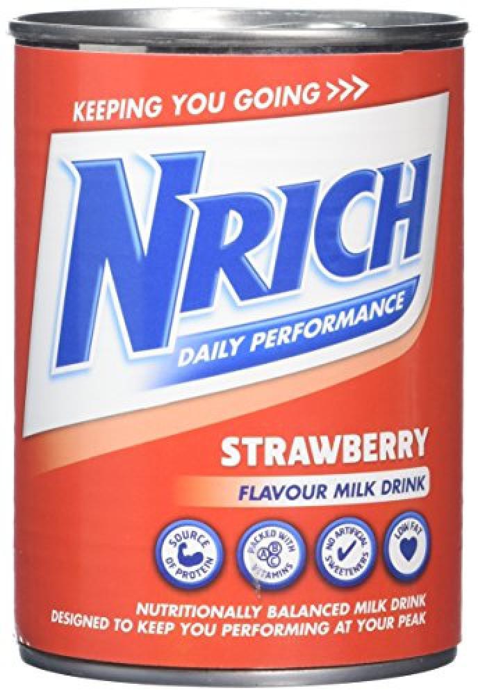 Nrich Strawberry Flavour Milk Drink 370ml