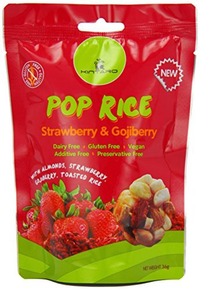 Kintaro Pop Rice Strawberry and Goji Berry 36g