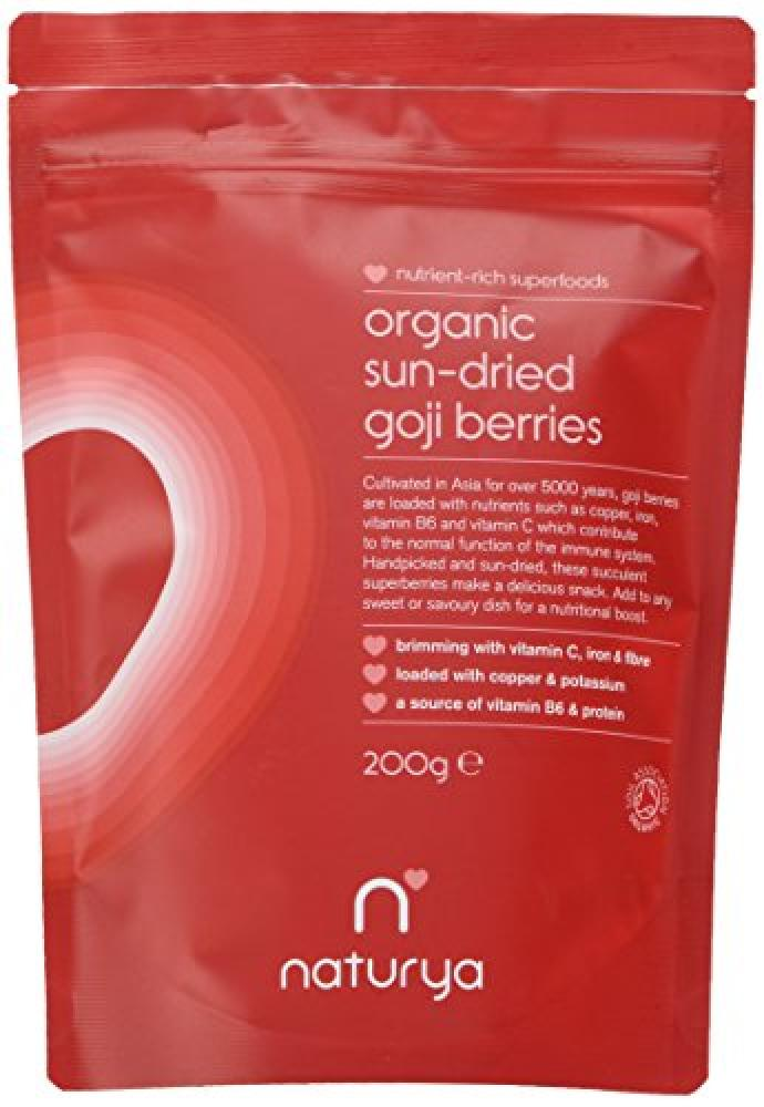 Naturya Organic Sun Dried Goji Berries 200 g