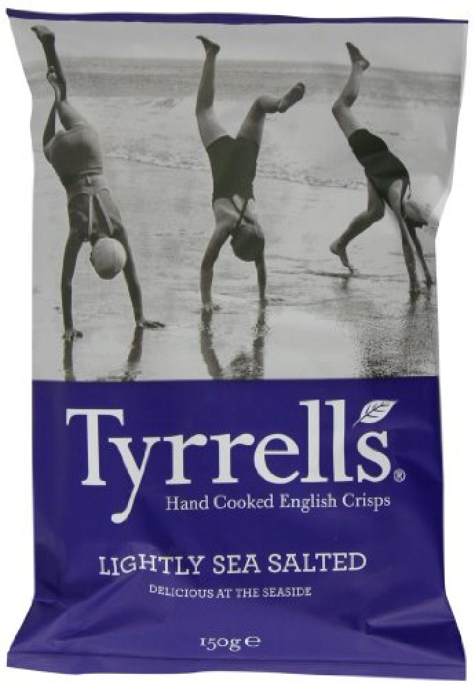 Tyrrells Lightly Sea Salted Crisps 150g