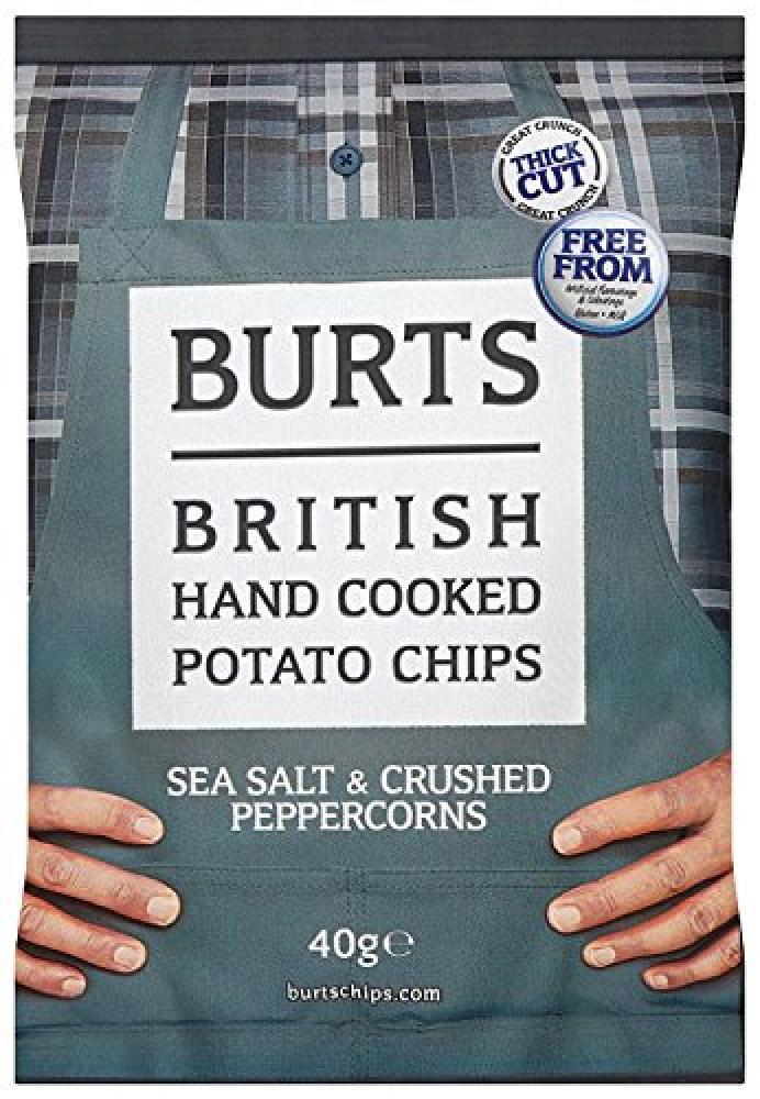 Burts Potato Chips Salt and Black Pepper 40 g