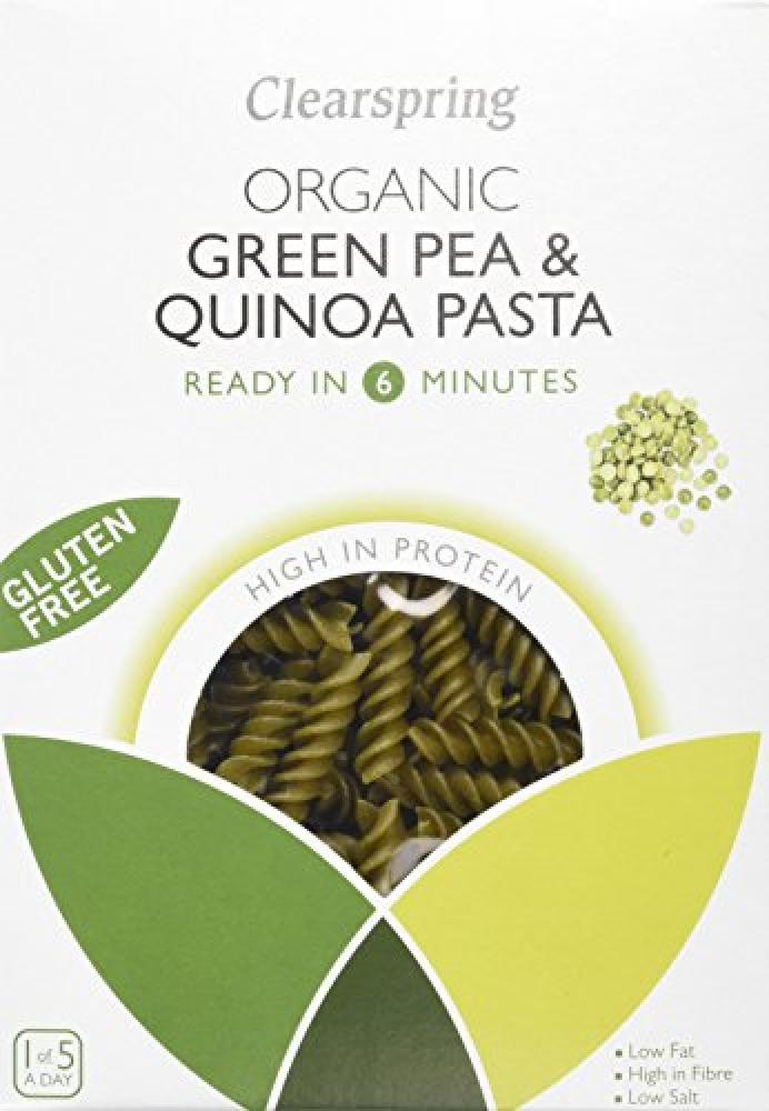 Clearspring Organic Gluten Free Green Pea and Quinoa Fusilli Pasta 250g