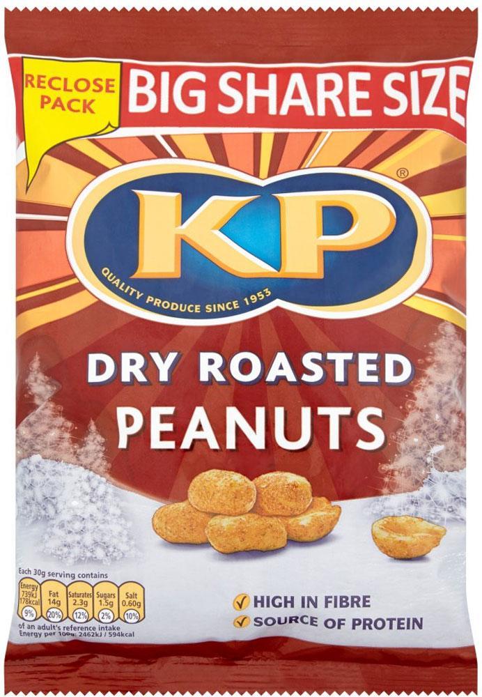 Kp Dry Roasted Peanuts 450g