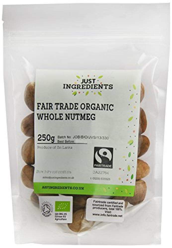 JustIngredients Premier Fairtrade Organic Whole Nutmegs 250g