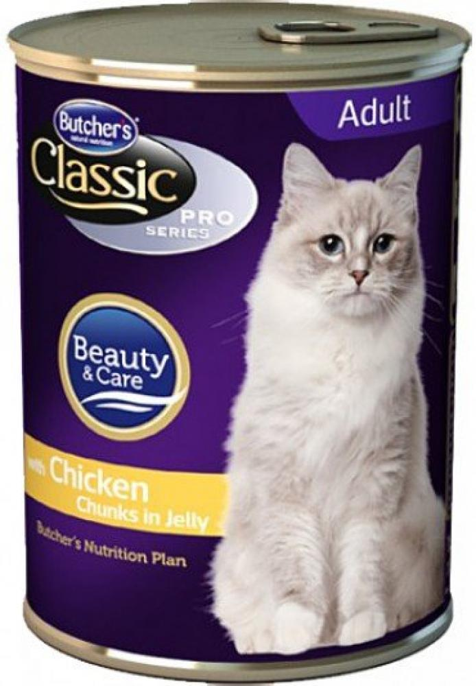 Butchers Classic Cat Food with Chicken Chunks in Jelly 400g