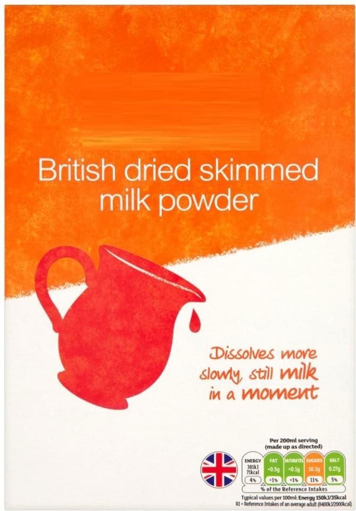 Perfectly Good British Dried Skimmed Milk Powder 500g