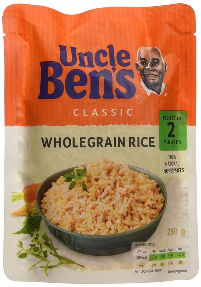 Uncle Bens Wholegrain Rice 130g