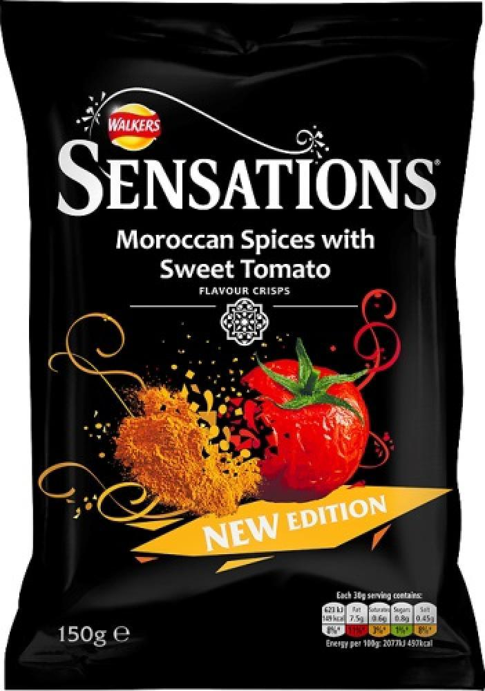 Walkers Sensations Moroccan Spices With Sweet Tomato Flavour 150g