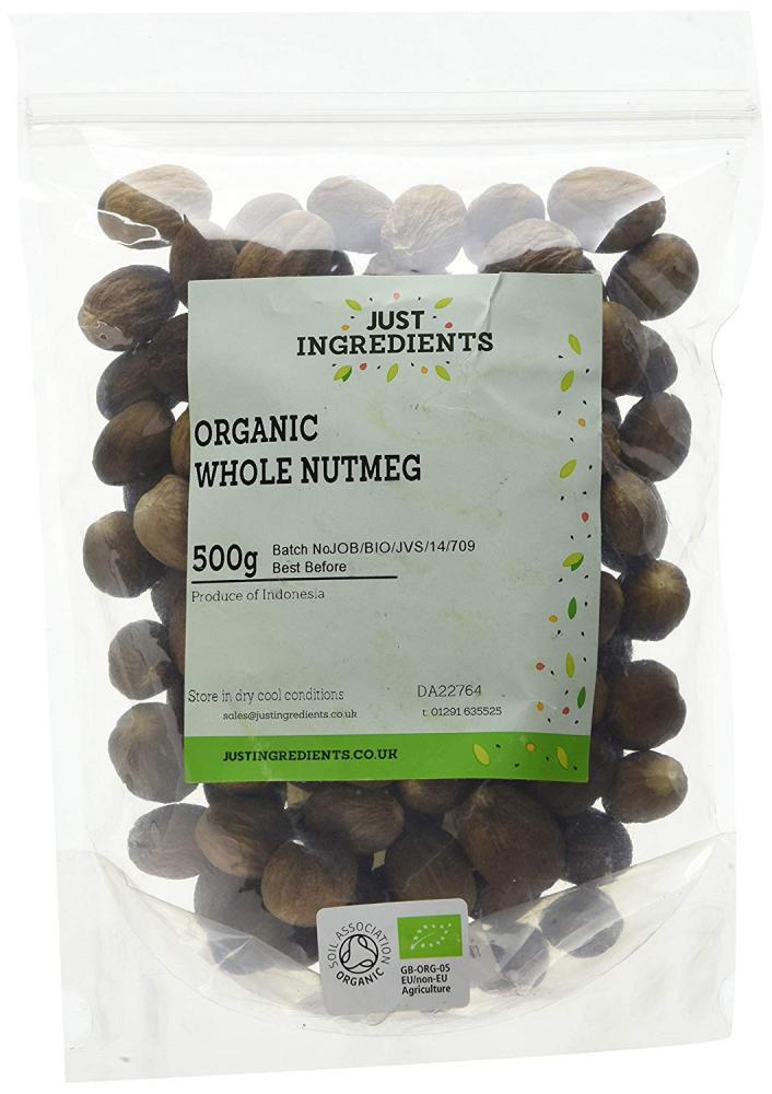 JustIngredients Premier Organic Whole Nutmegs 500g
