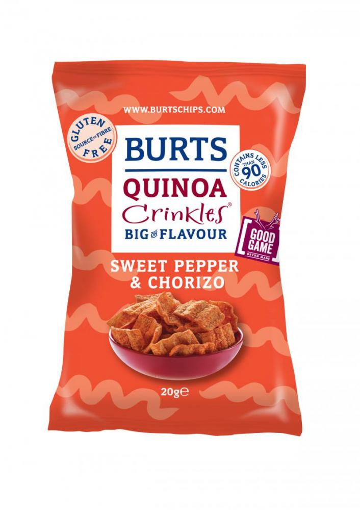 Burts Quinoa Crinkles Sweet Pepper and Chorizo 20g