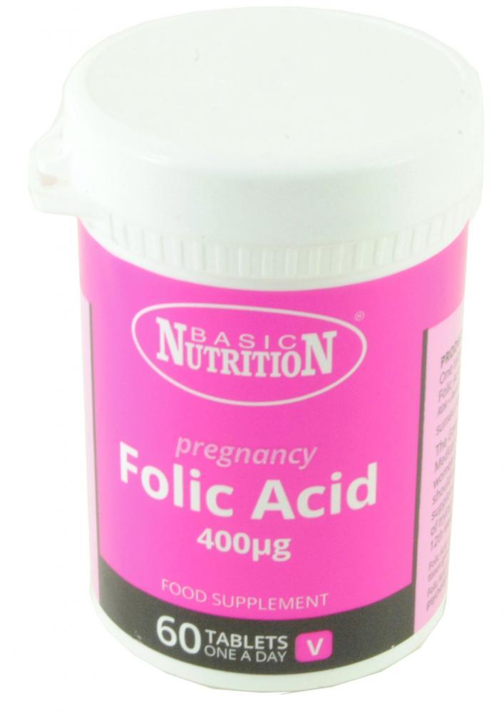Basic Nutrition Pregnancy Folic Acid 60 Tablets