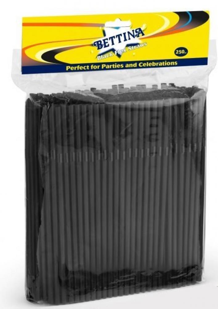 Bettina Black Drinking Straws 250 pack