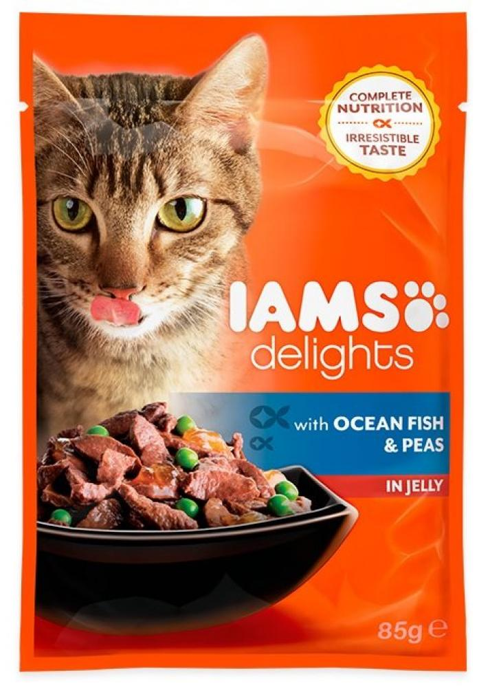 Iams Delights Ocean Fish and Peas in Jelly 85g