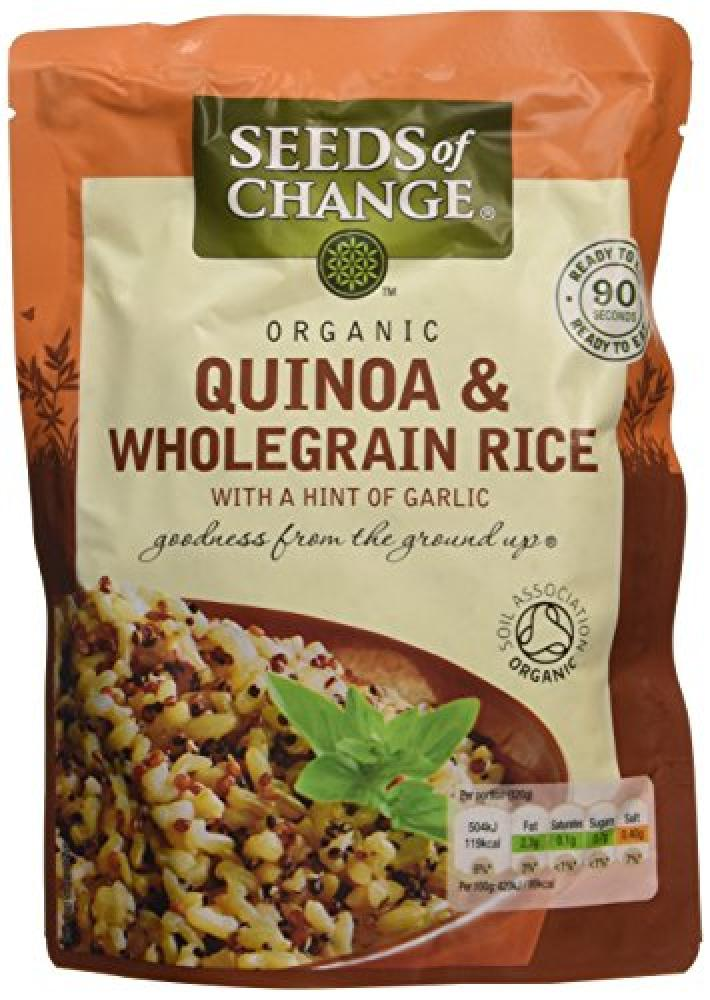 Seeds of Change Organic Quinoa and Wholegrain Rice with a Hint of Garlic 240 g