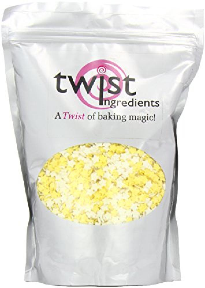 FURTHER REDUCTION  Twist Ingredients Yellow and White Sugar Stars 800 g