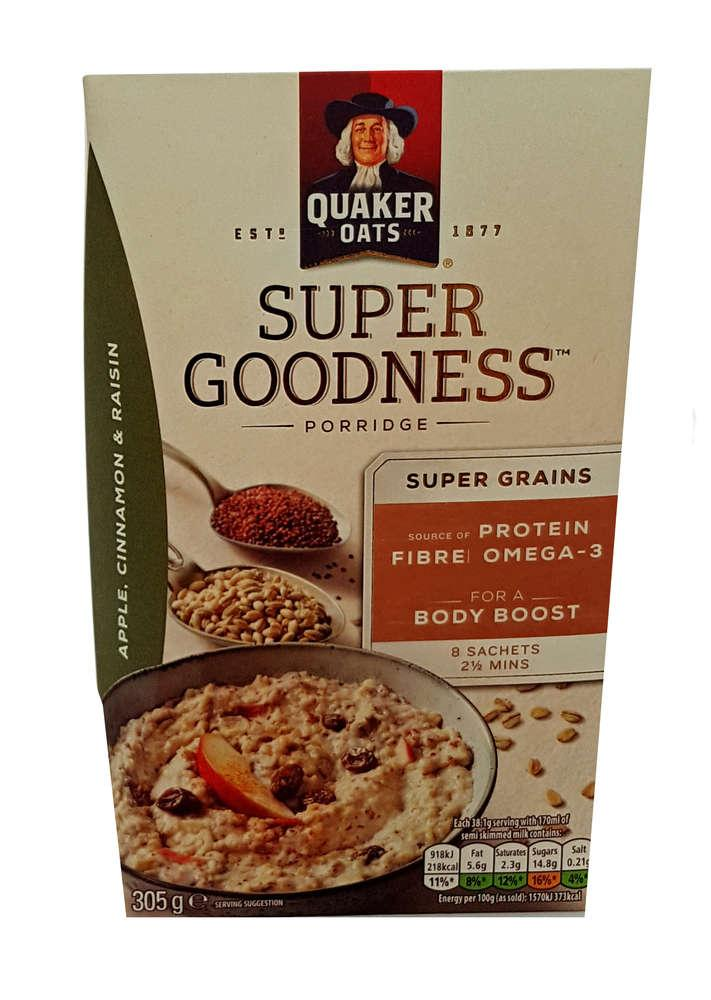 Quaker Oats Super Goodness Raisin Porridge 305g