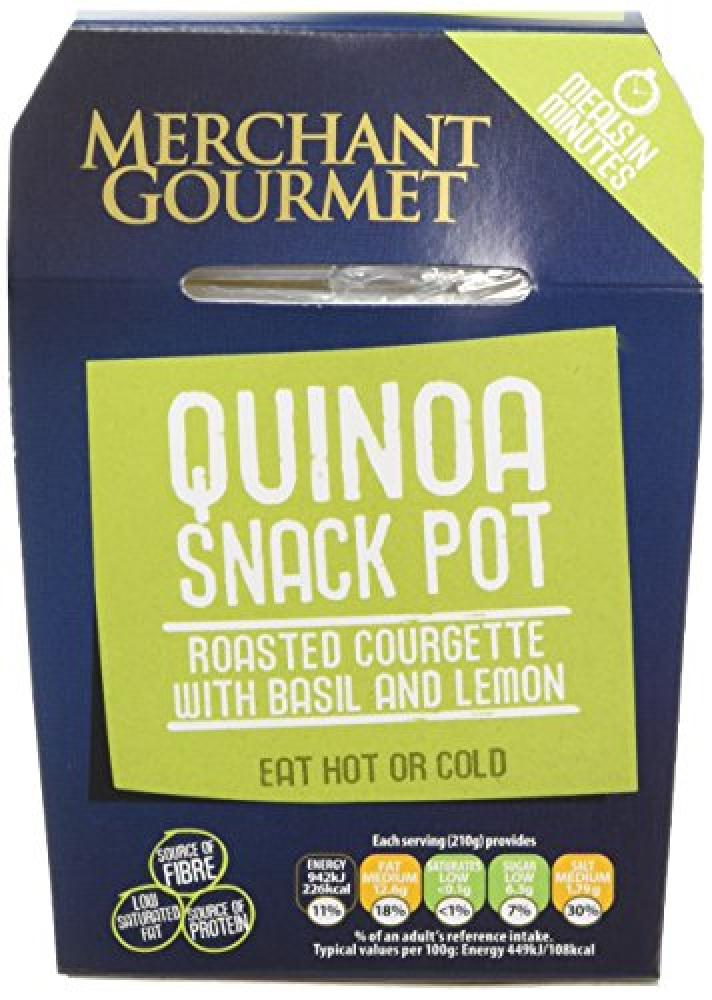 Merchant Gourmet Quinoa Snack Pot Roasted Courgette with Basil and Lemon 210g