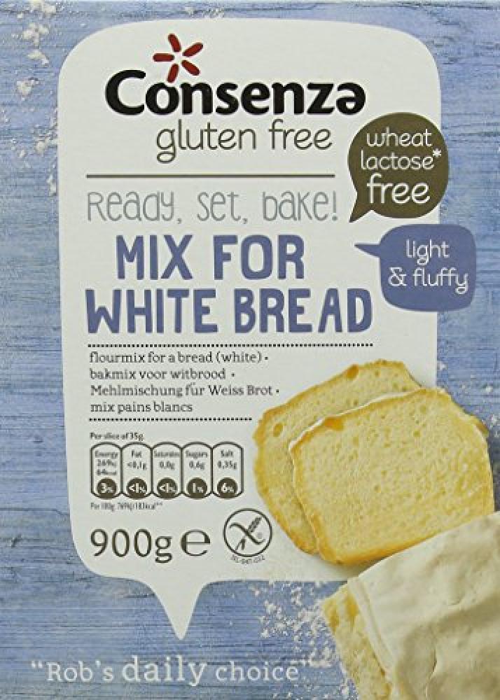 Consenza Gluten Free White Bread Flour 900g
