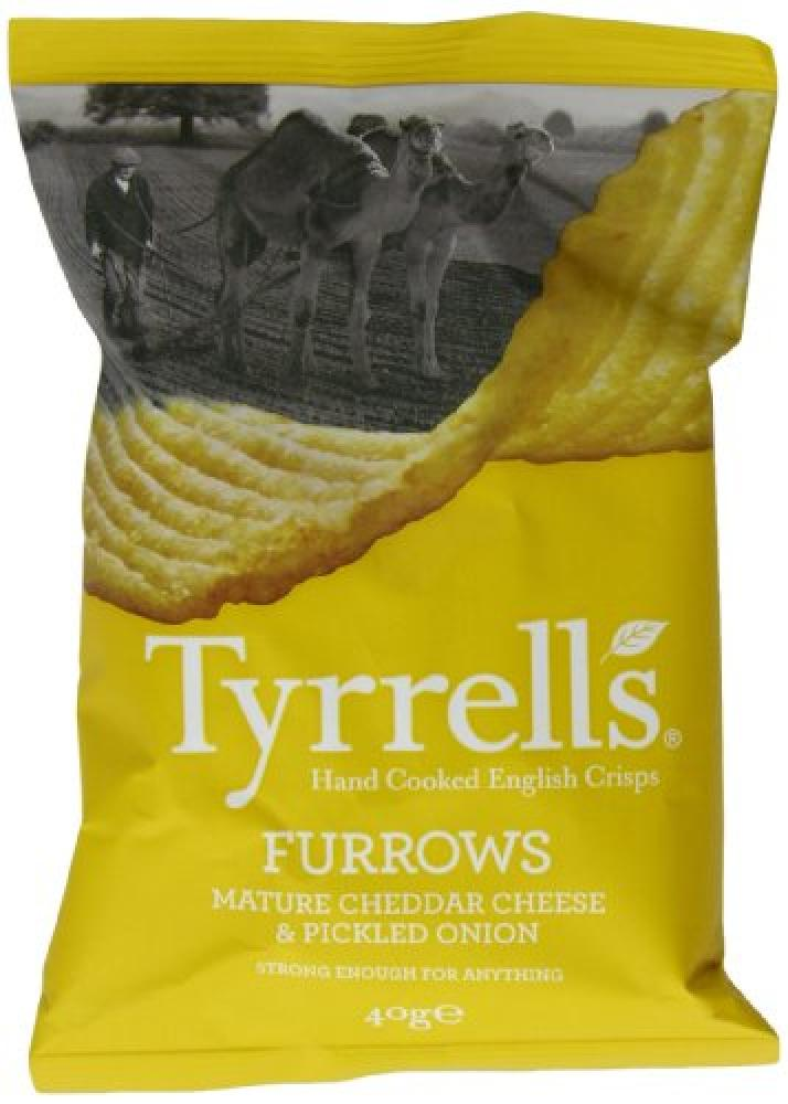 Tyrrells Mature Cheddar and Pickled Onion Crisps 40 g