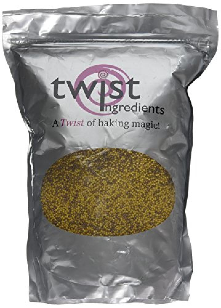Twist Ingredients Glimmer Hundreds And Thousands BronzeGold Mix 1 Kg