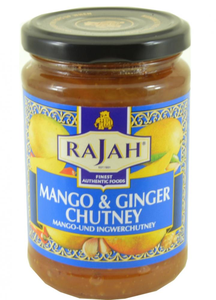 SALE Rajah Mango and Ginger Chutney 340g | Approved Food