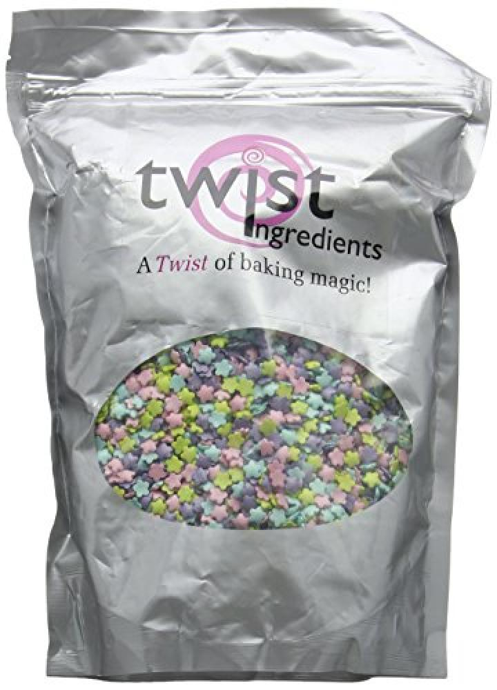 Twist Ingredients Glimmer Flowers with TurquoisePinkViolet and Lime 800 g