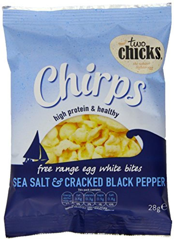 Two Chicks Chirps Sea Salt and Cracked Black Pepper 28g