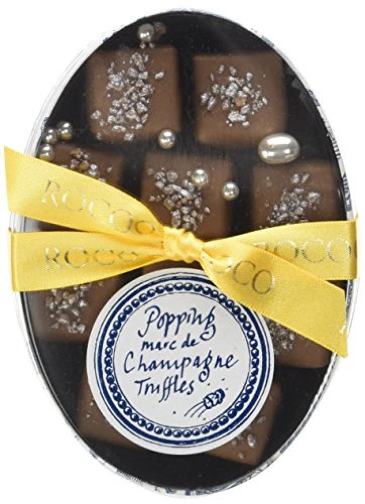 Rococo Chocolates Popping Marc de Champagne Ganache 90 g