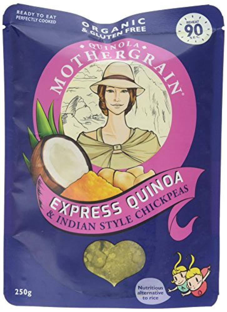 Quinola Mothergrain Express Quinoa and Indian Style Chickpeas Pouch 250g