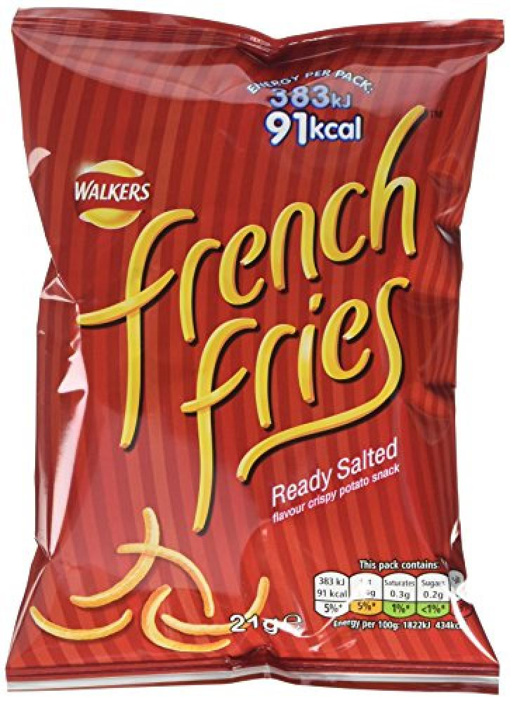 Walkers French Fries Ready Salted Crispy Potato Snack 21 g