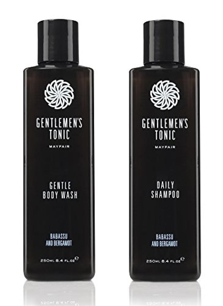 Gentlemens Tonic Gentle Body Wash and Daily Shampoo Duo Set 2x250ml