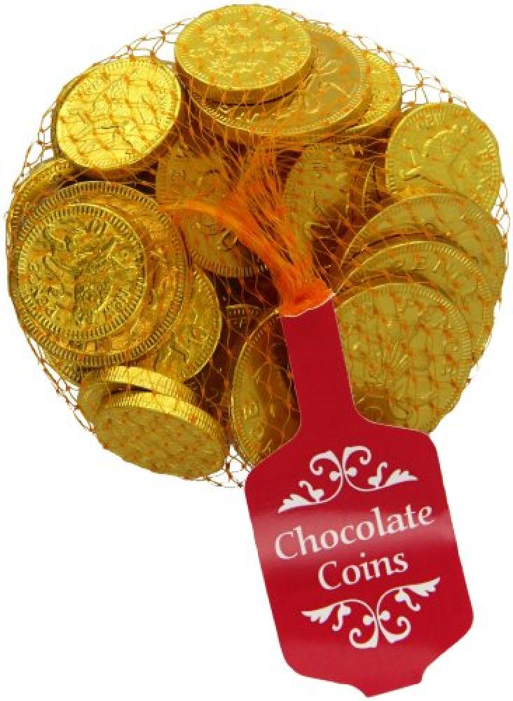 Steenland Gold Net of Milk Chocolate Coins 100g
