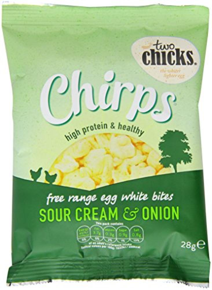 Two Chicks High Protein Egg White Bites Sour Cream and Onion Flavour 28g