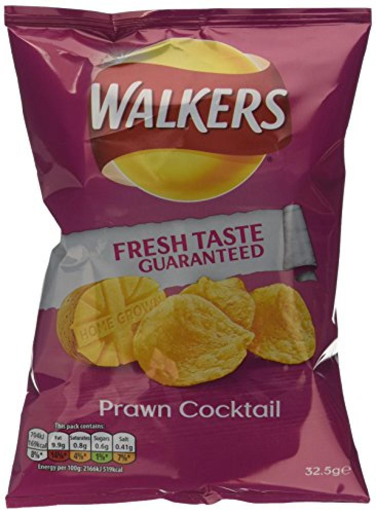 Walkers Prawn Cocktail Flavour Crisps 32.5 g
