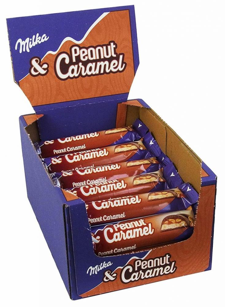 CASE PRICE  Milka Peanut and Caramel Chocolate 37g x 36