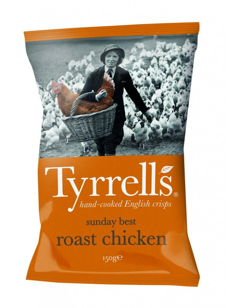 Tyrrells Sunday Best Roast Chicken Flavour Crisps 150g