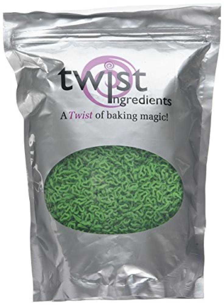 Twist Ingredients Green Sugar Angel Heart Sprinkles 600 g