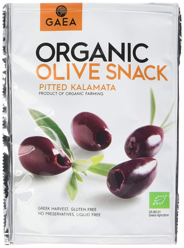 Gaea Organic Olive Snack Pitted Kalamata 65g